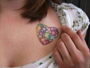 Tatuajes Inspiradores para San Valentín - Corazones con Estrellas