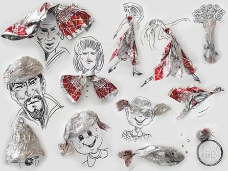 Ilustraciones en 3D que están a tu alcance - Envoltorio de Caramelos