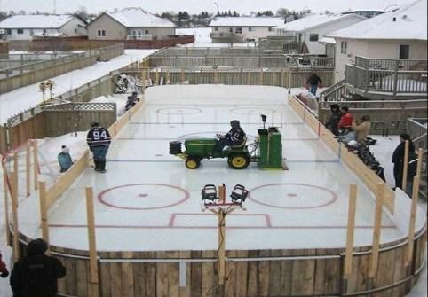 Los Mejores Patios Traseros - Pista de Hockey sobre Hielo