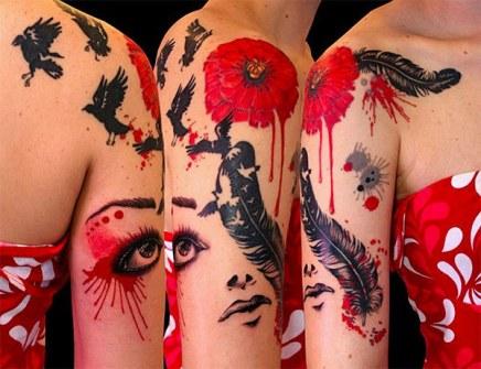 Tatuajes Acuarela - Natalia Borgia - Beaver Tattoo - Woodhaven, Nueva York