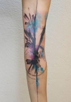Tatuajes Acuarela - Niko Inko - Street Tattoo, Isla de Francia, Francia.