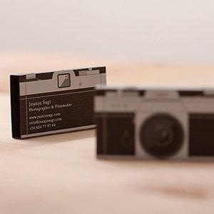 Tarjetas de Visita Ultra Creativas - Fotógrafo profesional