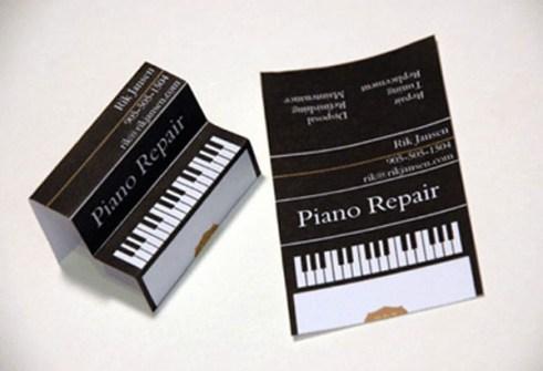 Tarjetas de Visita Ultra Creativas - Reparación de Pianos