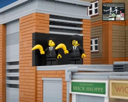 Fusión de Banksy y LEGO - Banana Pulp Fiction