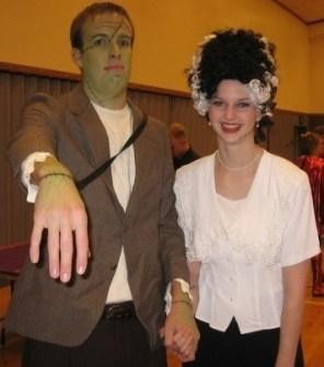 Disfraces para ir en Pareja - Disfraz de Frankenstein y su novia.