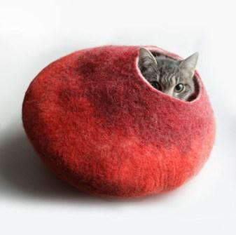 Cama escondite para gatos
