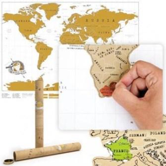 21 Gadgets Frikis que querrás para ti - Mapa rascador países visitados