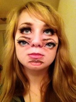 Maquillaje de Halloween - Doble cara