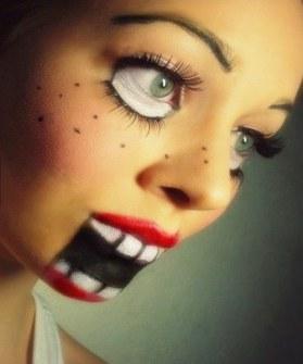 Maquillaje de Halloween - Maquillaje marioneta