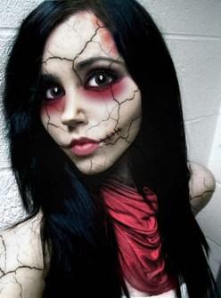 Maquillaje de Halloween - Muñeca rota