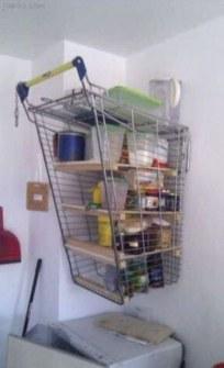 Inventos Caseros Rudimentarios que Realmente Funcionan - Estantería carrito de la compra