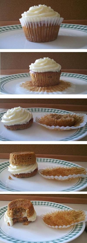 Cómo comer una cupcake