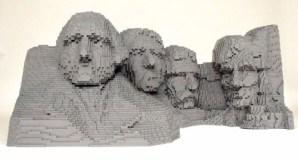 Lego Monte Rushmore.
