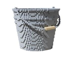 Escultura Lego Cubo de Agua.