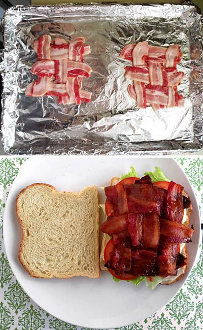 Cómo poner bacon en un sandwich o hamburguesa