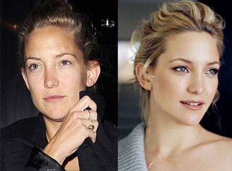 Transformaciones Impresionantes Kate Hudson sin Maquillarse.