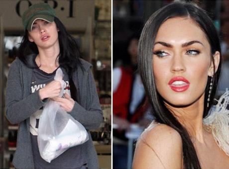 Transformaciones Impresionantes Megan Fox sin Maquillarse.
