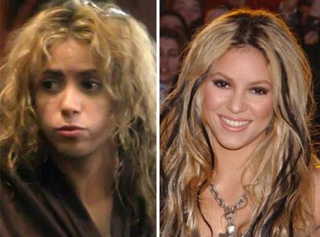 Transformaciones Impresionantes Shakira sin Maquillarse.