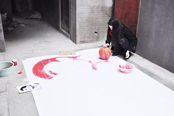 Artista improvisado.