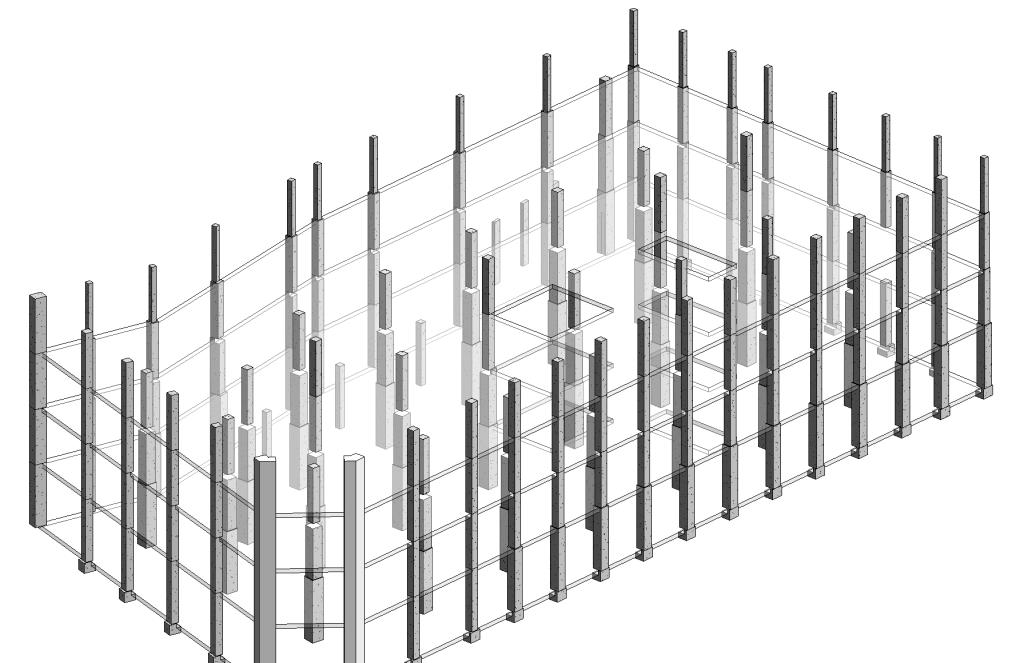 Split Columns in revit