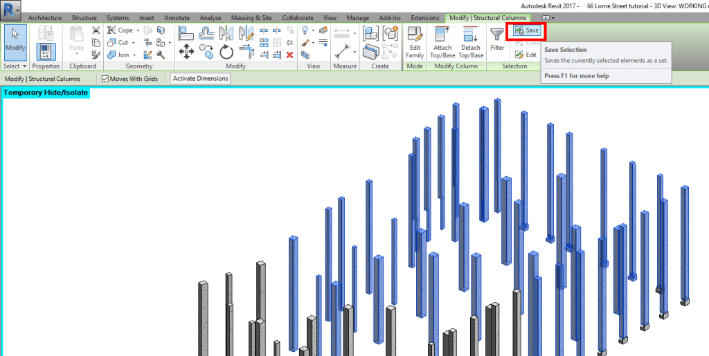Split Columns in revit