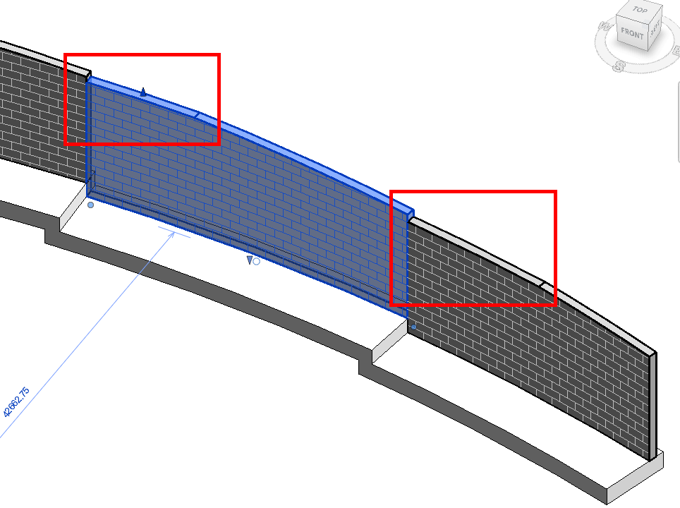 Edit Profile of curved wall in Revit