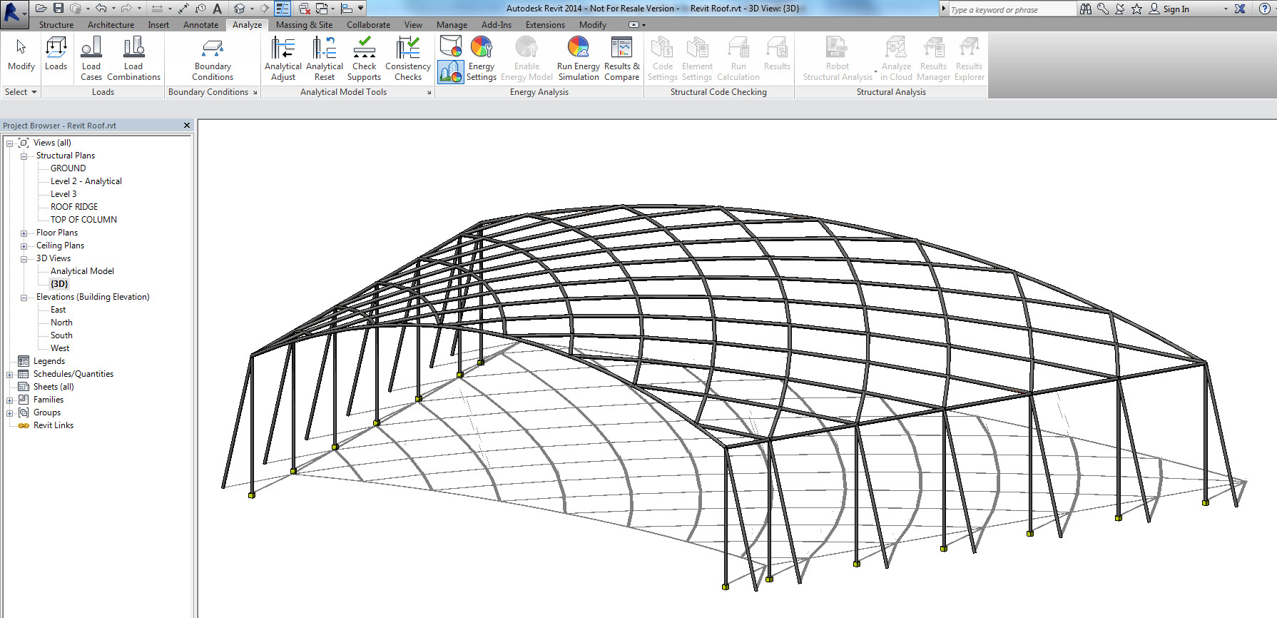 Space Frame Roof In Revit