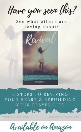 If you need revival in your prayer life, this prayer journey is for YOU! Download a sample chapter and see what others are saying about the new book: Revival: 6 Steps to Reviving Your Heart and Rebuilding Your Prayer Life New release in Christian living on Amazon, the power of a praying person, Scripture encouragement, Christian faith