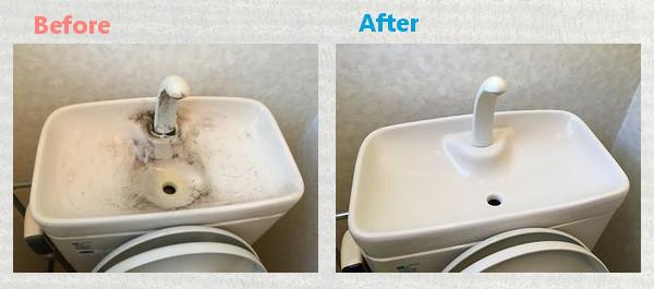 トイレタンク汚れ除去