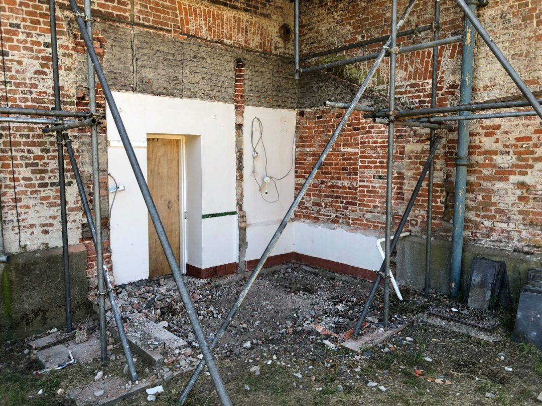 Old extension removed from Country Hall