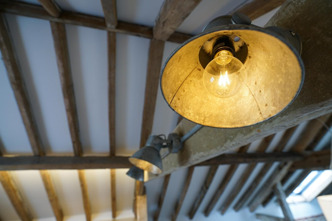Carriage House Beams and Lights