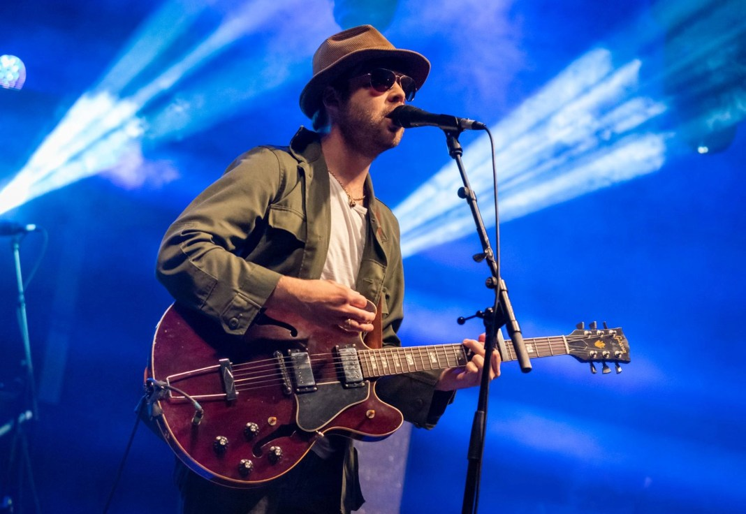 The Coral headlined the main stage in front of a crowd of 6,500