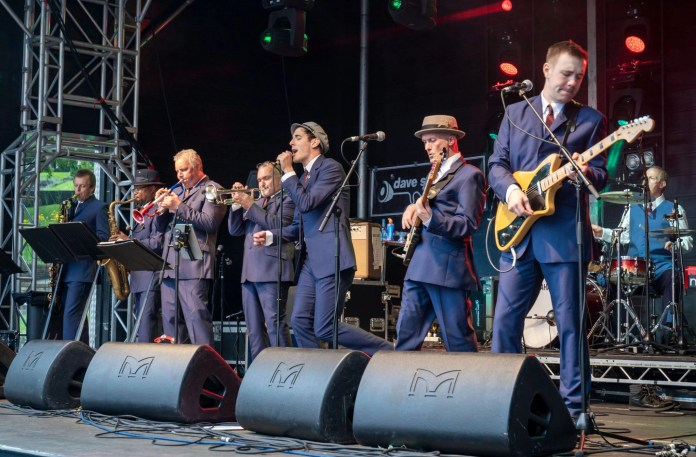 The Northern SoulTrain brought their dance floor and ballroom show to the festival for the first time.