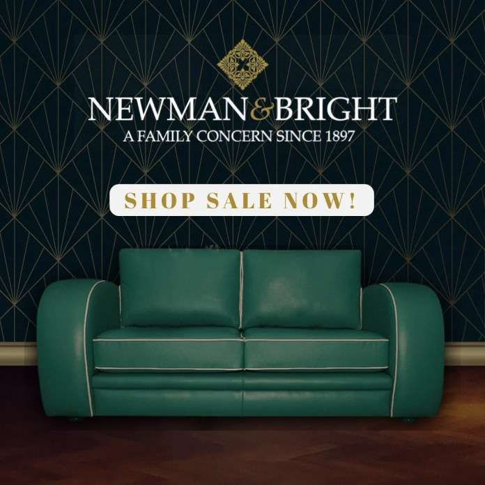 Manchester furniture experts, Newman and Bright showcase bespoke art-deco sofa collection