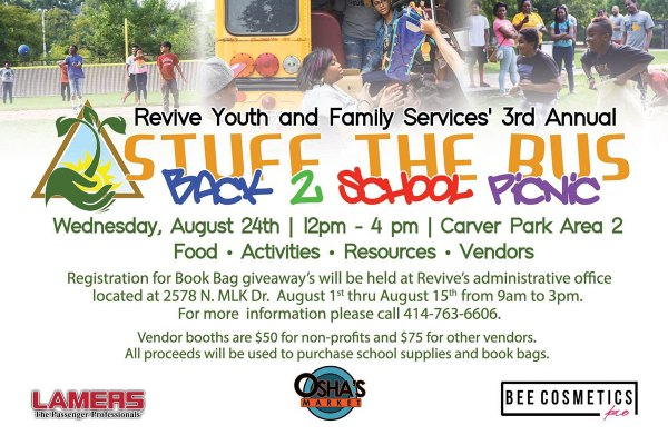 Revive Youth 3rd Annual Back to School Kick Off