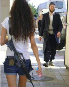 Israel girl with gun