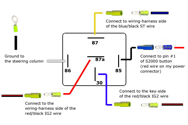 5 post relay wiring harness 5 wiring diagrams cars 12v automotive relay wiring diagram the wiring