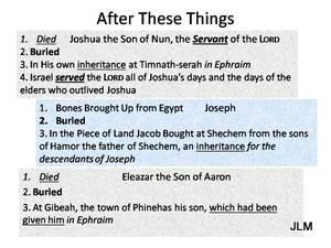 Worship & the Next Six Days: Joshua 24:29-33 (Peter Creek)