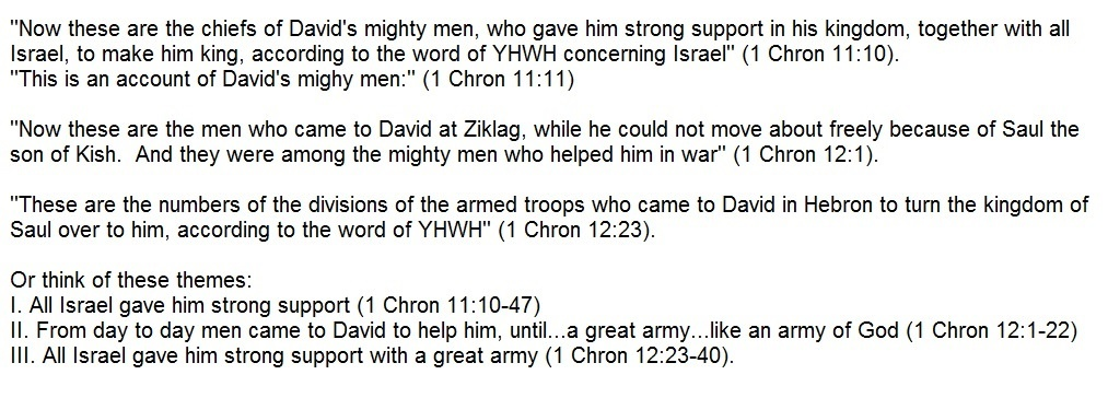 From Saul to David (1 Chronicles 9-12)