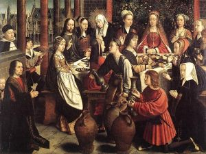 Marriage at Cana, c. 1500, Gerard David, Musée du Louvre, Paris available from wikipedia