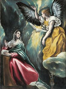 The Annunciation by El Greco, c. 1590–1603, Ohara Museum of Art, Kurashiki, Japan available from wikipedia