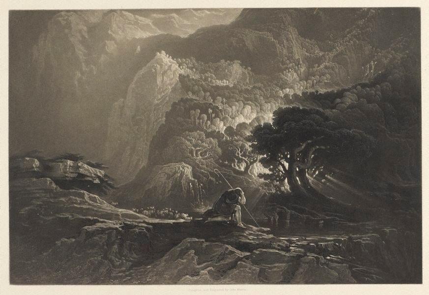 Moses and the Burning Bush, 1833 (John Martin)