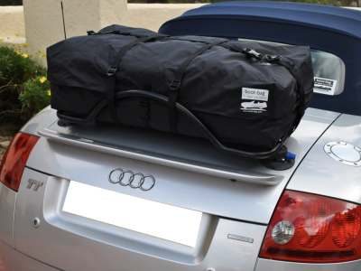 revo rack audi a5 convertible luggage rack with boot-bag vacation fitted