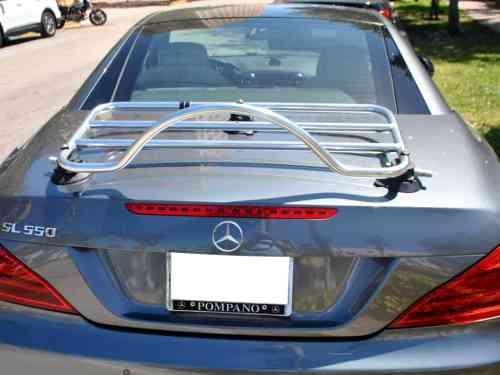 mercedes benz sl stainless steel boot deck trunk rack