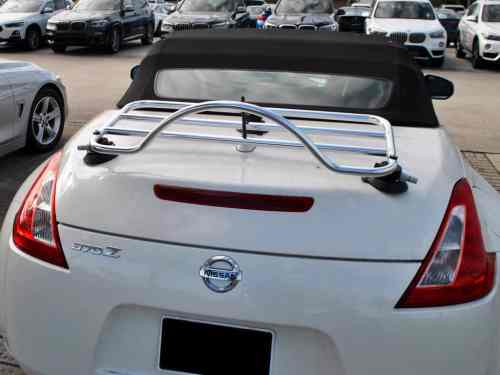nissan 370z cabriolet stainless steel luggage rack