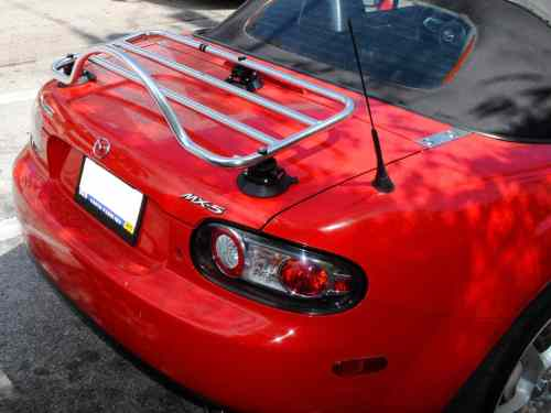 mazda mx5 roadster coupe stainless steel luggage rack