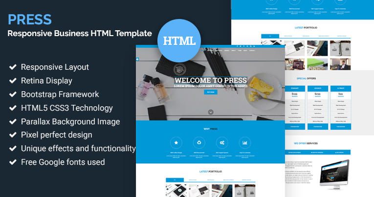Press responsive business html template free download press responsive business html template free download friedricerecipe Choice Image