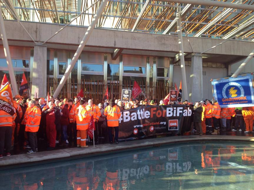 Bifab Workers March on Parliament