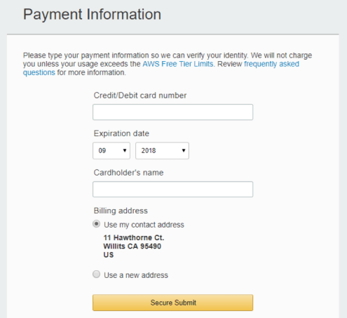 Setting up an Amazon Web Services (AWS) Account