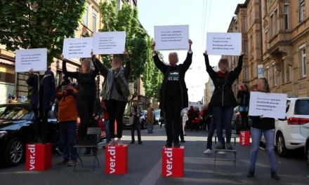 Frauenkampf Aktion am 1. Mai
